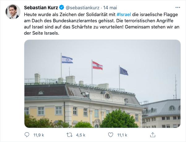 "Tweet de Sebastian Kurz le 14 mai 2021 : """