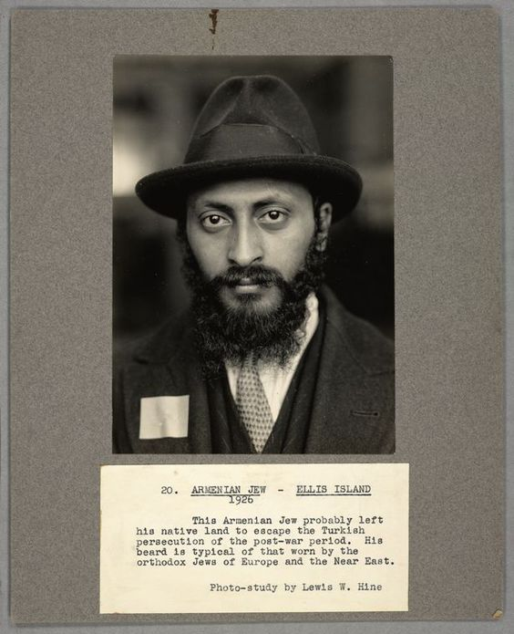 Armenian Jewish immigrant to the United States, 1926, pictured at Ellis Island.