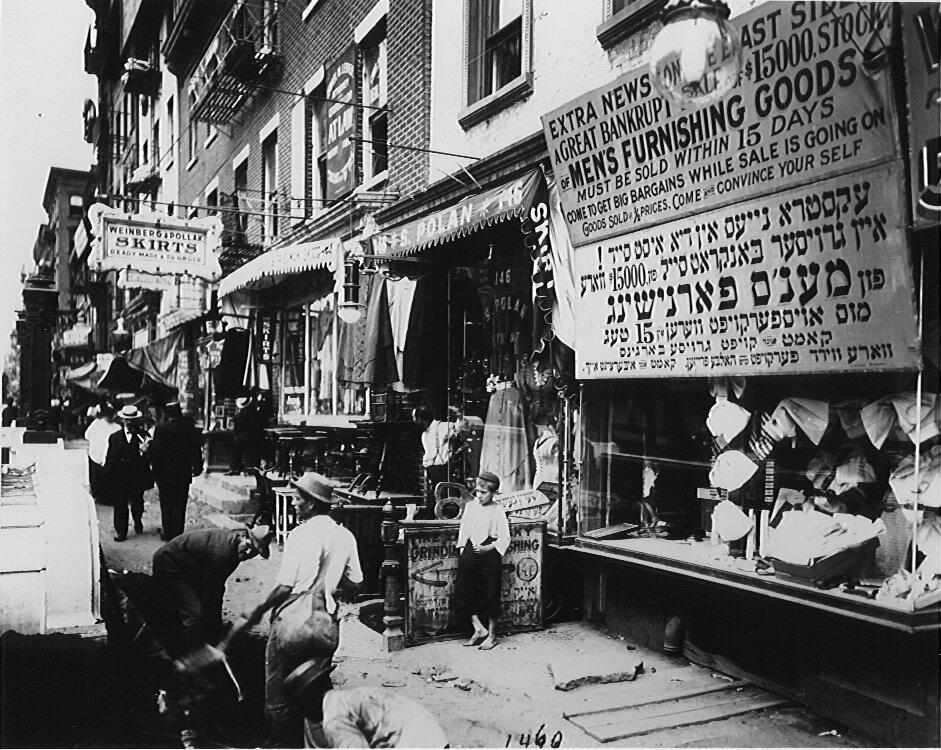 Lower East Side, New York, Circa 1900.